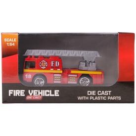 Fém tűzoltó jármű, 1:64, 6 féle