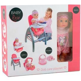 Baby Rose 3 az 1-ben etetőszék babával