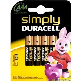 Duracell AAA mikro elem 4 darabos készlet
