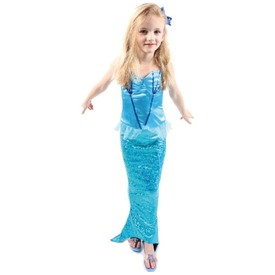 Sellő jelmez - kék, 7-8 éves