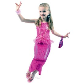 Sellő jelmez - rózsaszín, 7-8 éves