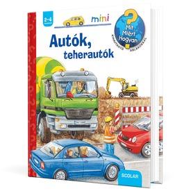 Autók, teherautók - ismeretterjesztő könyv