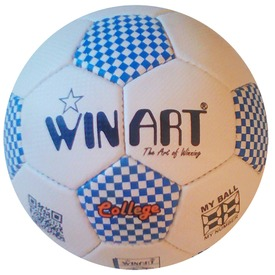 Winart College futball labda No. 5 white /blue
