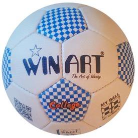 College No. 5 focilabda - fehér-kék, 22 cm