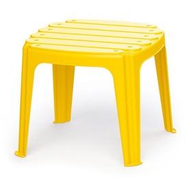 Kerti asztal - sárga, 37 x 37 x 31 cm