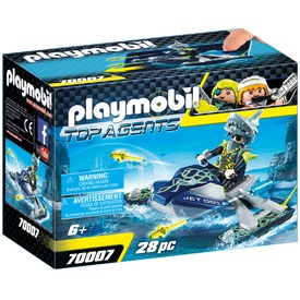 Playmobil TEAM S. H. A. R. K. Rakétavetős jet ski 70007
