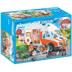 Playmobil Mentőautó villogó fényekkel 70049
