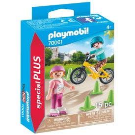 Playmobil Görkorizó és bicikliző gyerekek 70061
