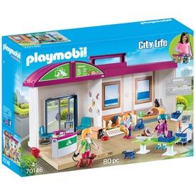 Playmobil Hordozható állatorvosi rendelő 70146