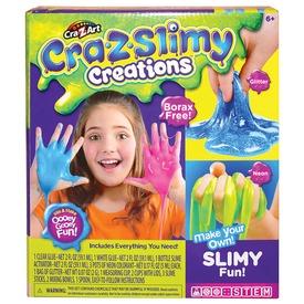 Cra-Z-Slimy csillámos neon zselé gyár készlet