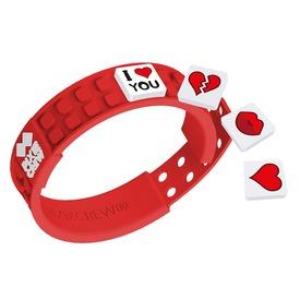 Pixie barátság karkötő, piros /szerelem