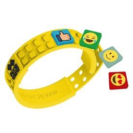Pixie barátság karkötő, sárga /emoji