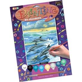 Delfinek számos kifestő