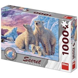 Puzzle 1000 pcs, titkos - Jegesmedvék