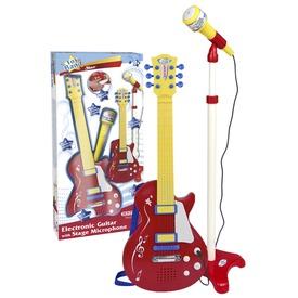 Elektromos gitár és mikrofonállvány
