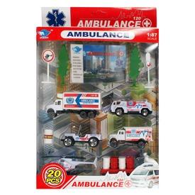 Fém mentőautó 20 darabos készlet - 1:87 Itt egy ajánlat található, a bővebben gombra kattintva, további információkat talál a termékről.