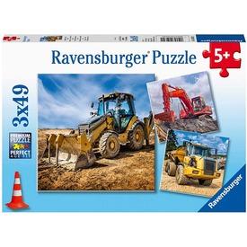 Puzzle 3x49 db - Óriás munkagépek