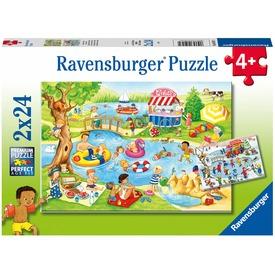 Puzzle 2x24 db - Szabadidő a tengerparton