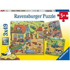 Puzzle 3x49 db - Élet a farmon