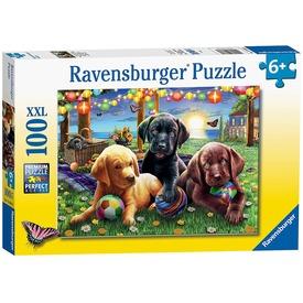 Puzzle 100 db - Kutyus piknik