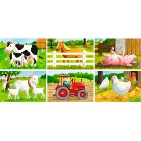 Tanyasi állatok 6 darabos mesekocka