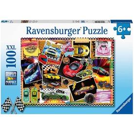 Puzzle 100 db - Autós bélyegek