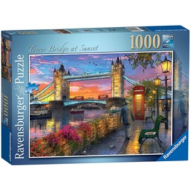 Puzzle 1000 db - Tower Bridge naplementében