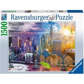 Puzzle 1500 db - New York télen-nyáron