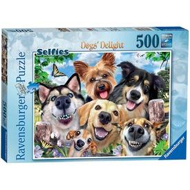 Puzzle 500 db - Kutya szelfik