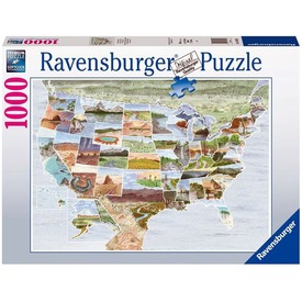 Puzzle 1000 db - Észak-Amerika