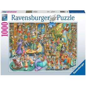 Puzzle 1000 db - Éjfél a könyvtárban