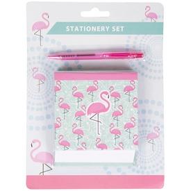 Flamingós füzet és toll
