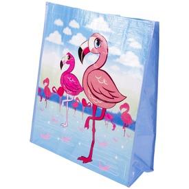 Flamingós kötélfüles zacskó - 40 x 15 x 46 cm
