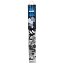 PlusPlus építőjáték - szürke árnyalatok cső, 100 db