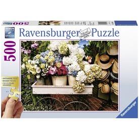 Virágok és kalapok 500 darabos puzzle