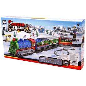 Power Train karácsonyi vonat készlet - 366 cm