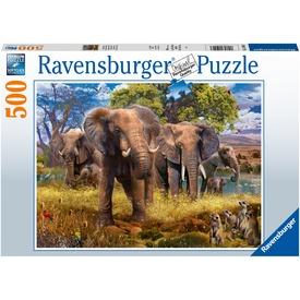 Puzzle 500 db - Elefántcsalád