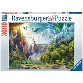 Puzzle 3000 db - Sárkányok birodalma