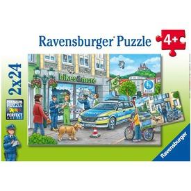 Puzzle 2x24 db - Rendőri akció