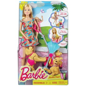 Barbie kutyasétáltató játékszett CNB