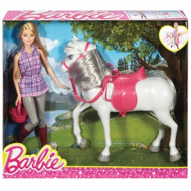 Barbie baba és lovacskája szett DHB