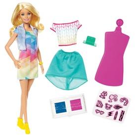Barbie Crayola ruhafestő készlet babával - 29 cm