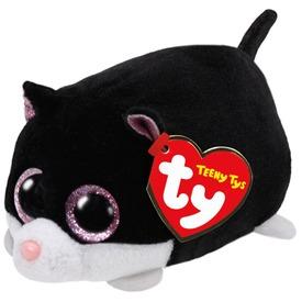 Cara cica plüssfigura - fekete, 10 cm