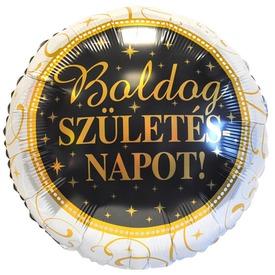 45 cm-es Elegáns Boldog Születésnapot fólia lufi