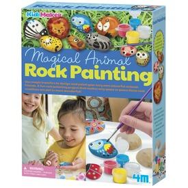 Kézze festett kövek állatok