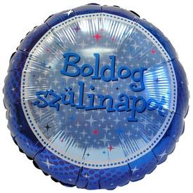 45 cm-es Kék Boldog Szülinapot fólia lufi
