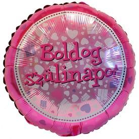 45 cm-es Pink Boldog Szülinapot fólia lufi