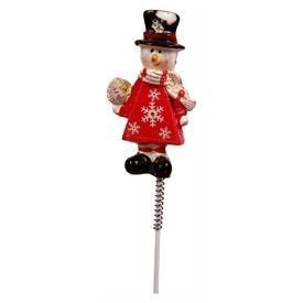 Hóember figura pálcikán - 6 cm