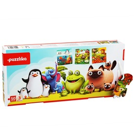 Kedvenc állatok 3 az 1-ben fa XXL puzzle