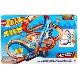 Hot Wheels ütközések a toronyban játékszett